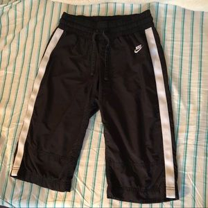 Nike Black Crop Capris Track Pants